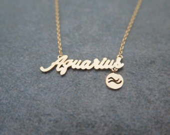 jewellery aquarius starsignaquarius reliquia products star sign gold necklace