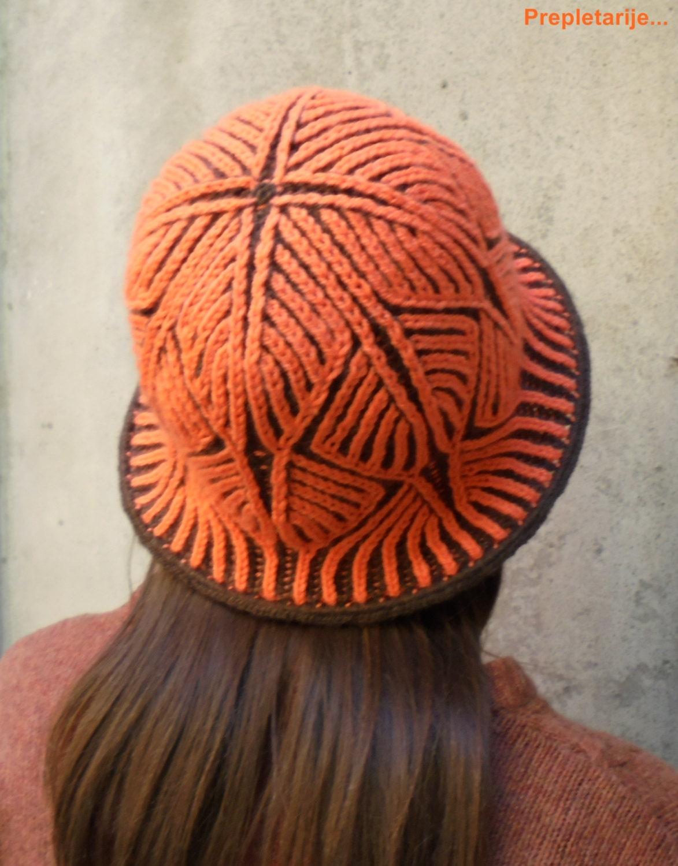 PDF Pattern 2-color Brioche knitted winter/summer hat