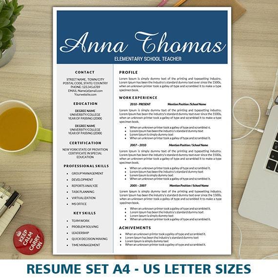 Elementary Teacher Resume Resume Template Teacher Resume