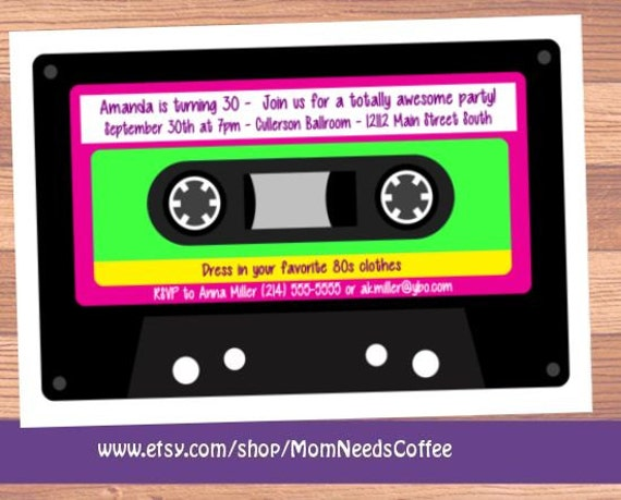 cassette tape invitation cassette tape Invitations cassette