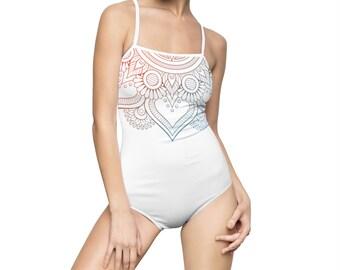 Mandala, Swimsuit, bathing suit, one piece, minimalist design