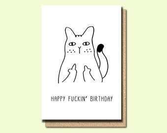 Funny greeting cards etsy funny friend birthday card friend birthday cards funny greeting card swear cards bookmarktalkfo Image collections