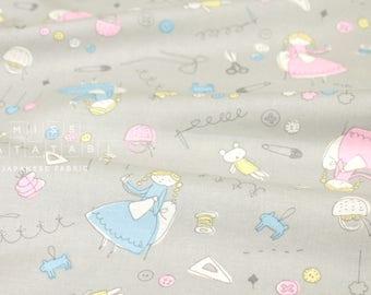 Japanese Fabric Megumi Sakakibara - Osaihou - grey - 50cm