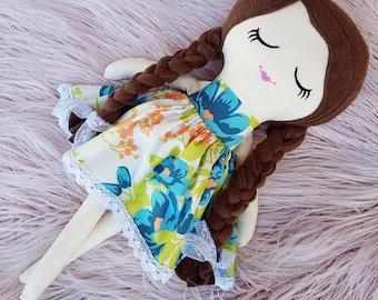Handmade Cloth Doll, Rag Doll, Keepsake Doll, Heirloom Doll, First Birthday Gift, Baby Shower, 45cm, Dolls and Daydreams, Fabric Doll, Toy