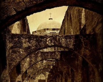 San Antonio Mission Arches Fine Art Photography Texas Photography Rustic Home Decor Western Wall Art