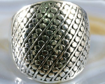 Ring, silver in great look - 4896