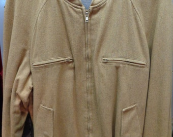 VINTAGE 1960's Men's YVES SAINTLAURENT Dark Tan Winter Jacket (available) uYcU9D5zp