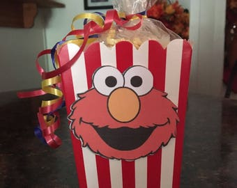 12 Sesame Street Elmo Mini Party Favor Popcorn Boxes