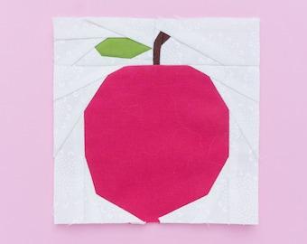 Apple [fruit paper piecing pattern]