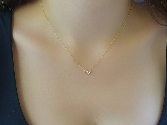 chain white necklace with products oro cuban pear vrai diamond gold and p link pendant
