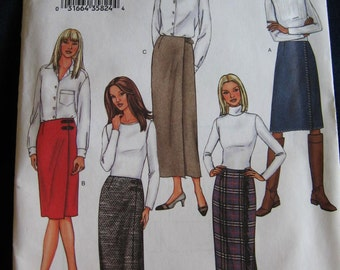 Butterick Womens Misses Wrap Skirt Sewing Pattern 3679 Size  20 22 24 Plus Uncut UC FF