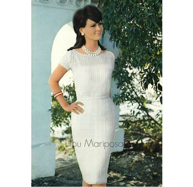 Crochet dress pattern vintage 60s crochet wedding dress zoom junglespirit Images