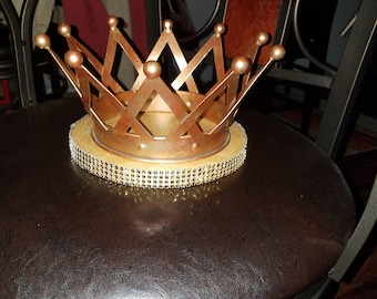 Metal gold crown  5 inches tall