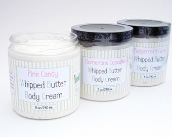 Creamy Coconut Whipped Butter Body Cream Lotion Many Scents