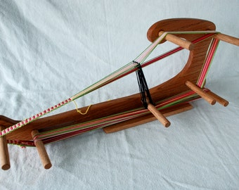 The Harp - Large Inkle Weaving Loom Made of Durable Hardwood Makes 6.5 foot Long Band Lap Table Card Tablet With Shuttle