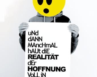 designposter | typo | realität vs hoffnung