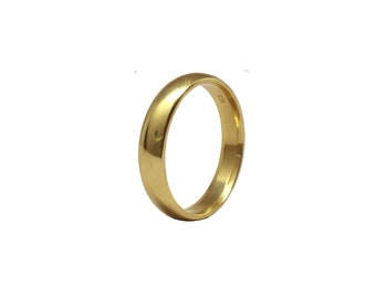 Classic Love | 18K Yellow Gold Wedding Band | Comfort Wedding Band | Classic Wedding Band | Traditional Wedding Band | Recycled Gold