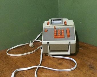 vintage adding machine, retro office electronics