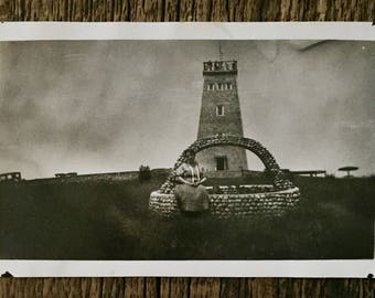 Original Vintage Photograph Lady of the Lighthouse