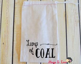 Lump of Coal gift bag - gag gift - small gift bag