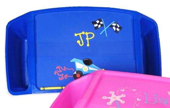 Blue Lap Tray Personalizedtrays Boys Plastic Laptray Kids