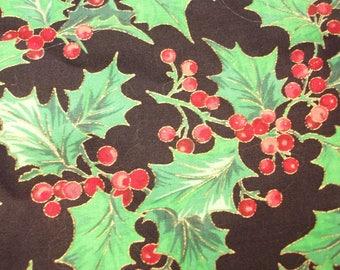 Cranston Print Works Christmas Holly Fabric, Christmas Fabric, Holly Fabric, Christmas Crafts, Cranston Print Works, VIP Fabric