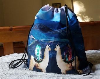 LLAMAS IN LOVE - Drawstring Treasure Bag