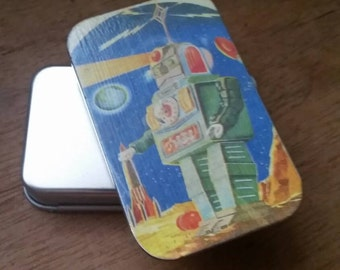 Robot beams....medium slide tin...seconds item