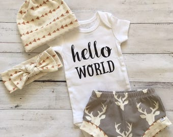 NEW for Summer!! Oh Deers Outfit/Infant Shorties/Toddler Shorties