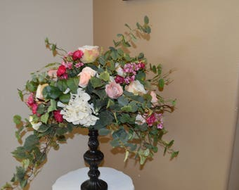 Silk Centerpiece, wedding centerpiece, silk wedding centerpiece, table centerpiece, garden fresh centerpiece, hydrangea centerpiece,