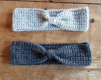 Scaldatesta wool ear flap with knot, crochet hook, Scaldatesta, Winter accessories, Made in Italy