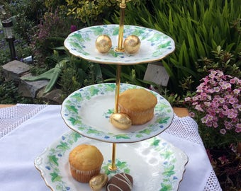Royal Crown Derby 3 tier Vintage cake stand, Crown Derby Medway cake stand, macaron stand, a unique cake stand for that special occasion