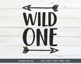 Wild One SVG Baby SVG Vector File First Birthday Baby Child Melon Love 1st for Silhouette Cricut Cutting Machine Design Download Print