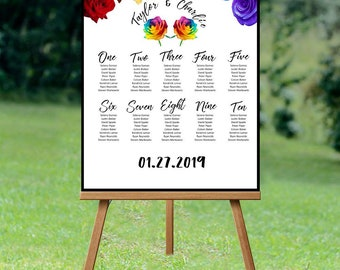 Romantic Rainbow - Seating Chart