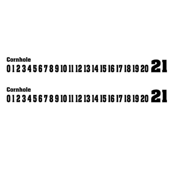 cornhole endcap scoreboard set of 2 corn hole score sticker