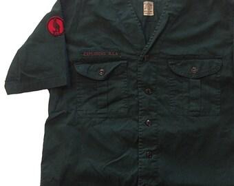 Vintage 1960s Boy Scouts Sanforized Shirt Mens S/M