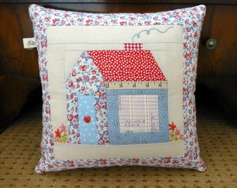 PDF Pattern - Foundation Paper Pieced Schoolhouse Pillow