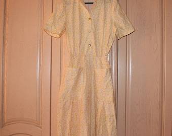 Vintage Yellow Dress from 1950