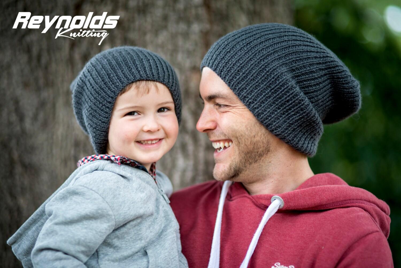 PDF Knitting Pattern - Ribbed Beanie - Winter Slouchy Hat - Men ...