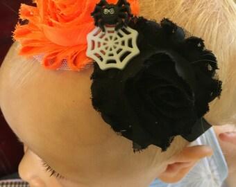 Itsy bitsy spider web headband