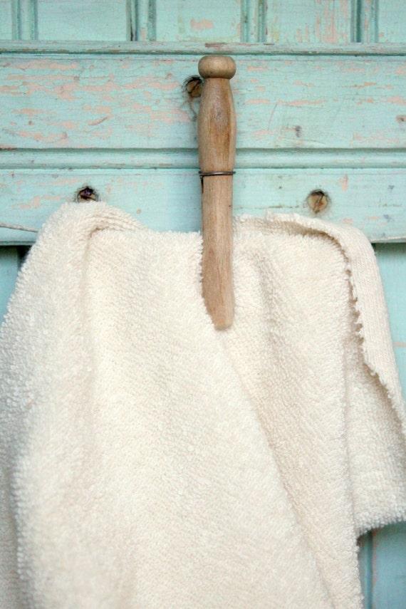 Organic Terry Cloth Fabric Fat Quarter Natural Creamy Cotton