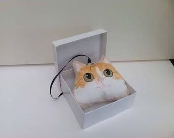 Personalised cat decoration, custom cat ornament, hanging cat ornament, cat memorial, cat lover gift