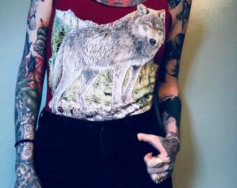 Handmade Vintage Wolf Bodysuit