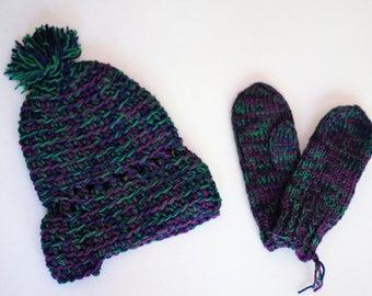 Hat + Mitts Knit Set (2 Piece)