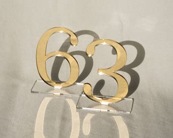 """3 1/2"""" Mirror acrylic Table Numbers, Wedding Table Numbers, Wedding Table Numbers Set, Wedding Table Decor, Table Numbers"""