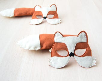 Fox Mask and Tail Costume