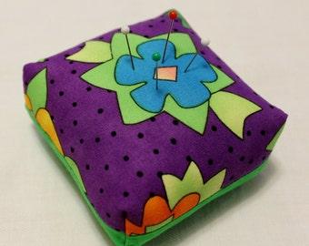 Purple Flower Pincushion
