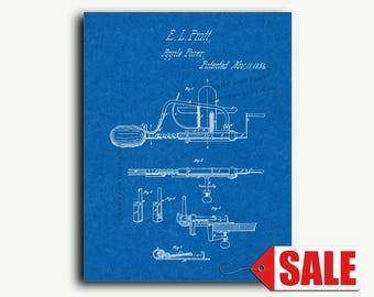 Patent Print - Apple Parer Patent Wall Art Poster