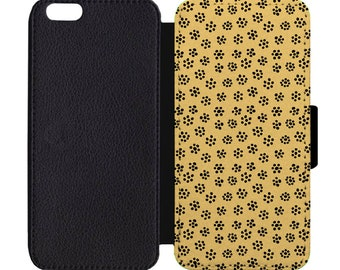 Floral Dot Print April Showers Bring May Flowers Pattern Leather Flip Wallet Case Apple iPhone 5 5S SE 6 6S 7 7S 8 8S X Plus
