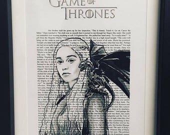 Daenerys Targaryen Game of thrones book art